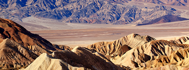 Overlooking Death Valley from Zabriskie Point